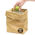 A Brown Paper Bag imita as sacolas de papel, mas é térmica por dentro; da Bento Store