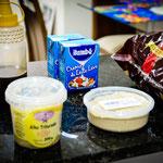 Ingredientes à espera do preparo