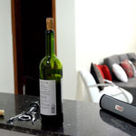 Um vinho pra acompanhar durante o preparo...
