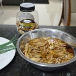 Cogumelos de molho por 20 minutos