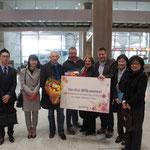 Herzlicher Empfang am Flughafen INCHEON Seoul