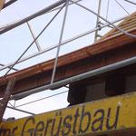 Dachhängel wurden angebracht