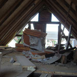 Im Dachgeschoss entsteht das Büro und ein Arbeitsabteil