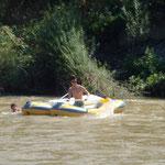 Mit dem Boot