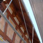 Unterdach fertig gestrichen