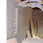 Die Wände werden nach der Isolation verleidet und verputzt.