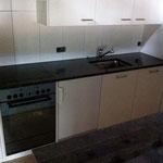 Die Küche im ersten Stock ist fertig eingebaut
