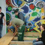 Bühnenbau Jugendhaus Februar 2010