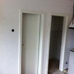 Türen von den Toiletten eingesetzt