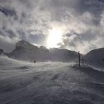 Der einzige Lichtblick an diesem Tag...sonst nur Nebel und Schneesturm