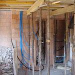 WC-Anlage wird gemauert