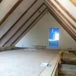 Dachgeschoss wurde der Boden gedeckt