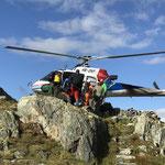 Transporte mit dem Helikopter