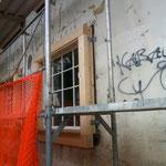 Fensterrahmen wurden angebracht