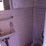 Toilette montiert