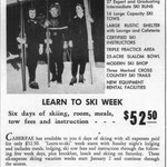 This ad for a Caberfae Ski Week appeared in 1954. Deals like this brought skiers from all over the region.