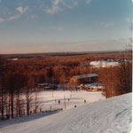 From the top of the Ski Shop run, this 1971 photo shows the beauty of Caberfae's surroundings.