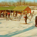 Caberfae's base area had all the amenities skiers wanted.