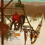 Not all went according to plan. This is the double chair that was in service for only parts of two winters. It ran to the top on Number One.