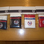 Sergio tacchini リストバンド NV/RD/WH,BK/RD/WH,WH/BL/RD,RD/BL/WH