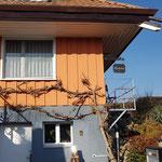 Holzfassade neu gestrichen