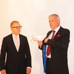 Governor Thomas Huser gratuliert dem LC Baden-Heitersberg zum Gerburtstag