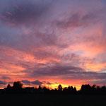 Langendiebach Sonnenuntergang 2015