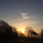 Sonnenaufgang an der Kinzig Frühjahr 2016
