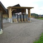 Heufressstände mit Dach