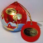 Weihnachtskugel - rot - kpl.