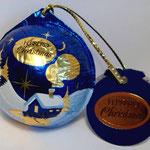 Weihnachtskugel - blau - kpl.