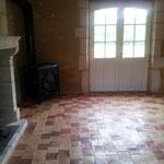 Carrelage neuf terre cuite ciré lustré (photo)