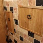 Portes d'accés robinet et nourices en chêne