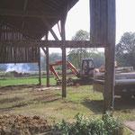 Travaux de terrassement/nivellement avant dalle béton (image)