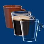 Espressotassen und Kaffetassen
