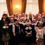 Встреча с Патриархом Алексием II в Его резиденции 14 ноября 2005 года.