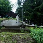 Verbunkerter Panzerturm,  M24 Chaffee, leichter Panzer USA
