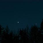 Duett von Venus und Merkur am 12.1.15  20:31:08