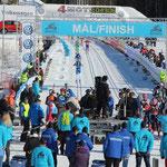 Im Ziel in Lillehammer