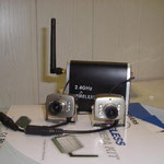 Funkset 2.4 Ghz mit max. 4 Kanälen-Kameras