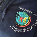 HAKRO Kapuzen-Sweatjacke Premium #605 - Bestickung - BRK/JRK Würzburg