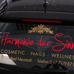 Fahrzeugbeklebung, Fahrzeugbeschriftung, Folienbeklebung, Folienbeschriftung, Harmonie der Sinne