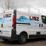 Fahrzeugbeklebung, Fahrzeugbeschriftung, Folienbeklebung, Folienbeschriftung, Fa. Heizungsbau Linz, Prichsenstadt