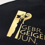 Flaschenkühler / Bocksbeutelkühler mit Logoaufdruck in Gold
