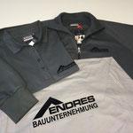 HAKRO Poloshirt Top #800; T-Shirt Classic #292; Sweatjacke College #606 - Beflockung - Fa. Endres Bauunternehmen, Würzburg