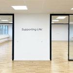 3D-Wandbeschriftung - Logo bzw. Slogan aus Acrylglas-Buchstaben - Wandbeklebung