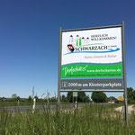 Begrüßungsschilder Markt Schwarzach a. Main, Willkommensschilder, Ortsschilder, Beschilderung