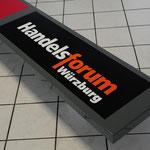 Firmenschild, Werbetechnik, Haube