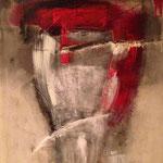Optimist or Pesimist - Acryl Mischtechnik 56 x 71 cm, 2014