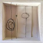 Linie, Fläche, Form - Draht und Papier, 10 x 10 cm, 2017